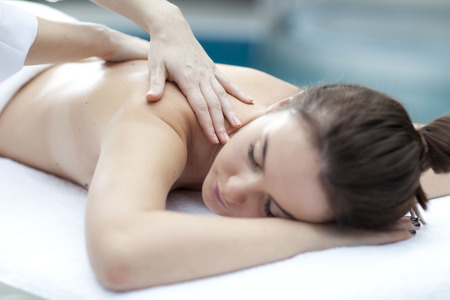 healty: Save Download Preview Young beatiful Woman receiving healty spa treatment