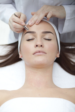healty: Young beatiful Woman receiving healty spa treatment