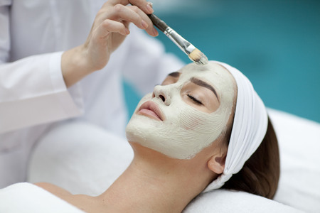 Beatiful young Woman receiving healthy spa treatment
