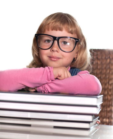 a little girl and a lot of books