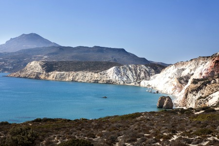 cyclades: Milos island, Cyclades, Greece. Beatiful view on beach