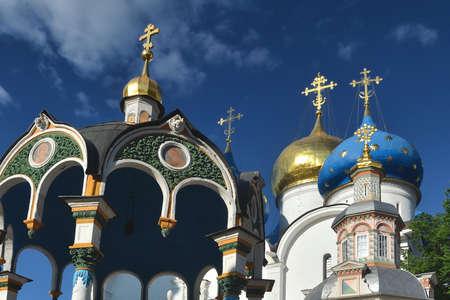 Trinity Lavra of St. Sergius - panoramic aerial view in Sergiev Posad