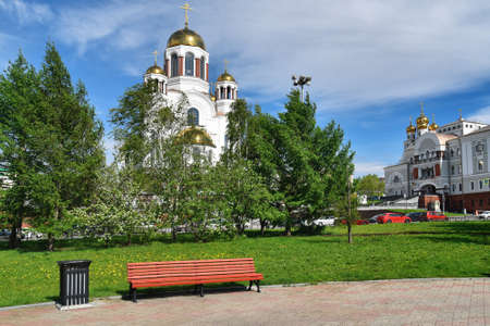 Temple on blood in the Ekaterinburg city