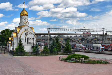 Chelyabinsk, the church of the Smolensk Icon of the Mother of God at the station Archivio Fotografico