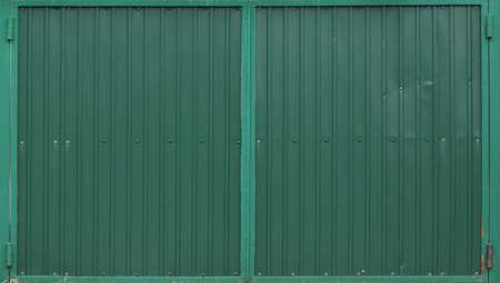 Green metal decking. Sheets of green corrugated iron Reklamní fotografie