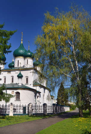 Temple of Elijah the Prophet in Yaroslavl. Gold ring of Russia