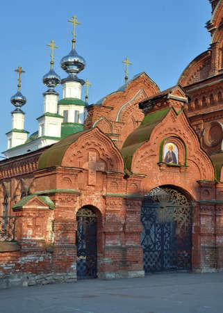 Temple of the Tikhvin Icon of the Mother of God in Kungur. Russia Zdjęcie Seryjne