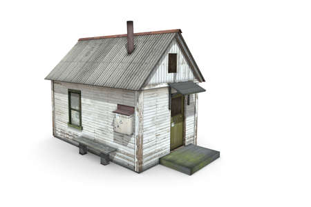 3D render booth lineman on a white background. Isolate 3d model