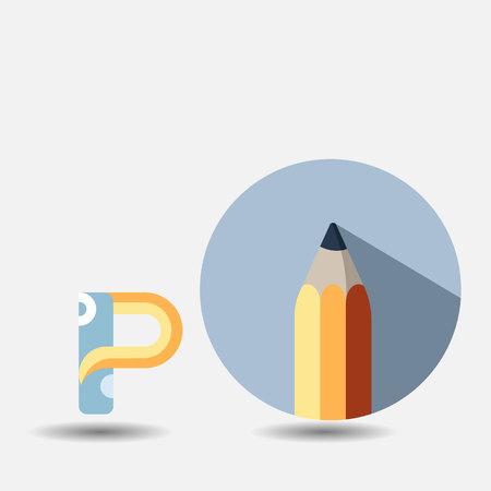 graphite pencil Vector illustration. Archivio Fotografico - 96728330