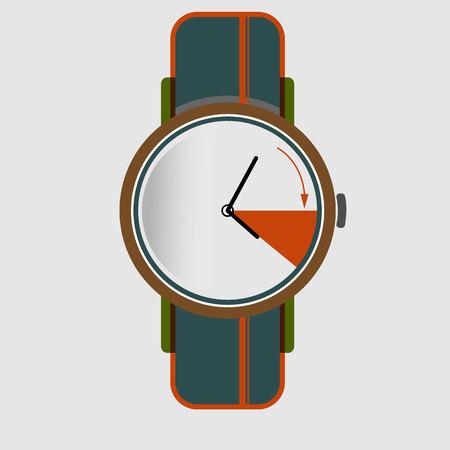 time change spring Vector illustration. Иллюстрация