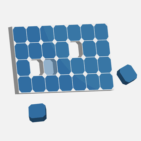 solar panel Vector illustration. Ilustrace