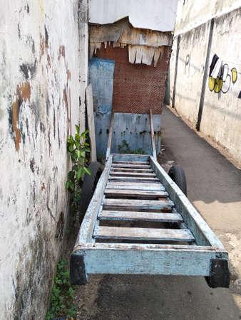 old broken cart on jakarta