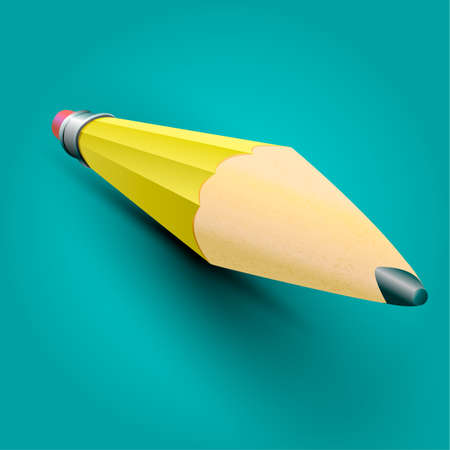 pensil: realistic pensil isolated on a white background. Vector illustration.