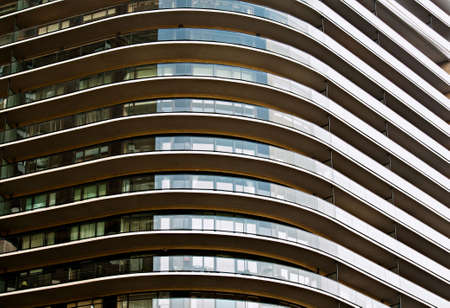 Modern Architectural Curved Abstract Stock Photo