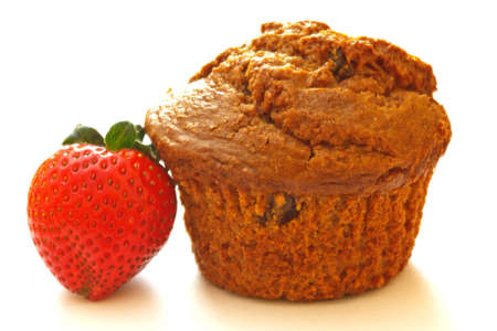 Bran Muffin with Strawberry