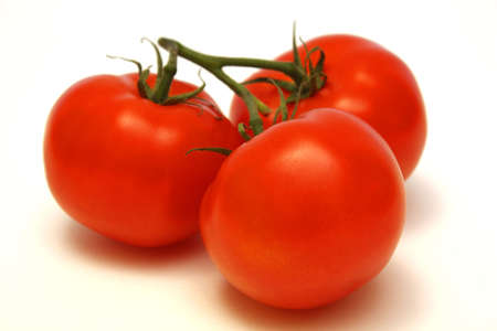 ripe: Vine Ripe Tomatoes Stock Photo