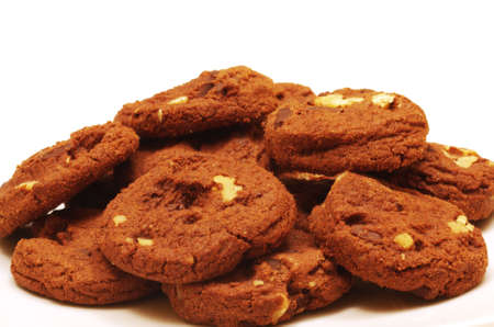 Dutch Chocolate Chip Cookies with Walnuts Stock Photo
