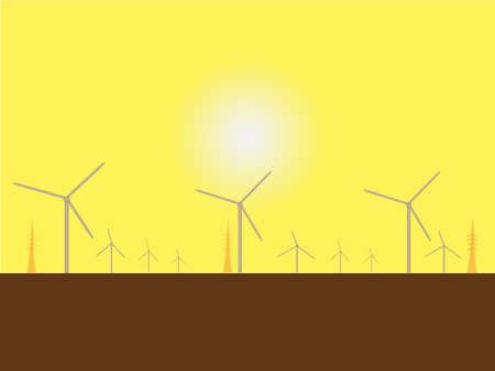 Solar Wind Mills Against a Blazing Sun