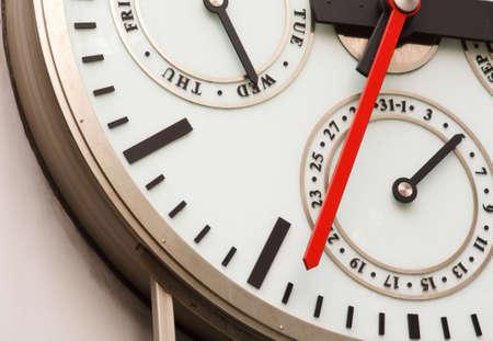 Partial shot of a large International Clock