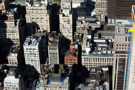 Aerial view of rooftops in New York City Stock Photo