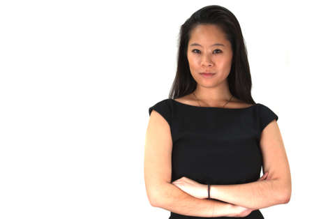 Asian Business Woman isolated on a white background