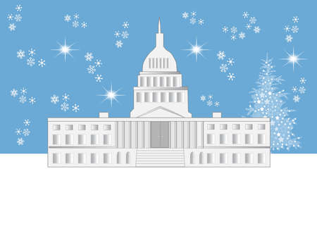 Washington DC Holiday Scene Stock Vector - 5913904