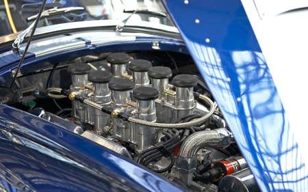 horsepower: Closeup of a sportscar engine