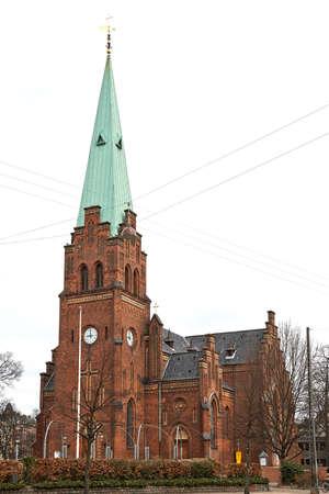 Sankt Johannes-kerk in Kopenhagen, Denemarken wordt gevestigd dat Stockfoto