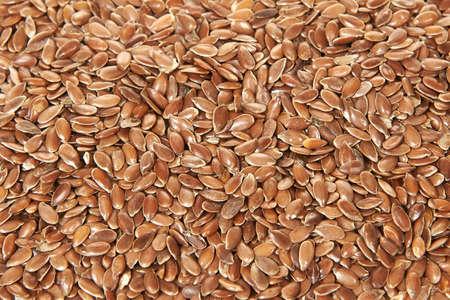 usitatissimum: Closeup of Brown flax seeds