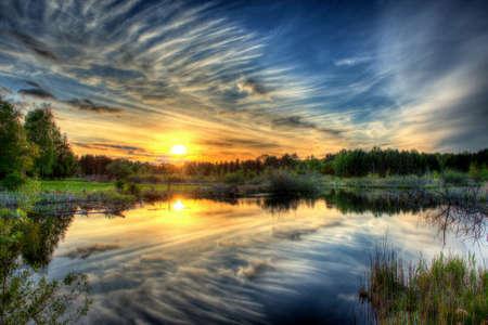 high dynamic range: Beautiful sunset shoot in high dynamic range