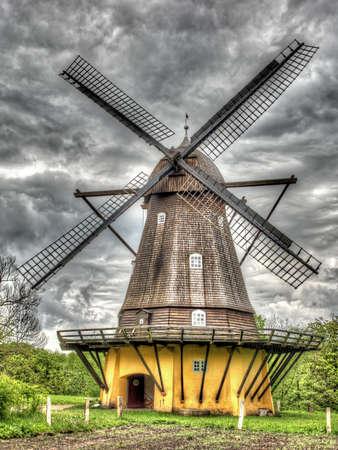 high dynamic range: Old windmill shoot in high dynamic range Stock Photo