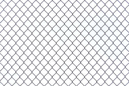 Braid Wire Fence Texture On A White Background Stock Photo, Picture ...