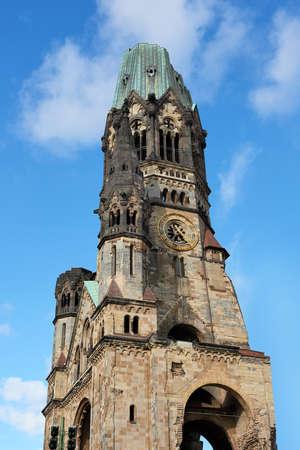 kaiser: Kaiser Wilhelm Memorial Church with blue skies in the background