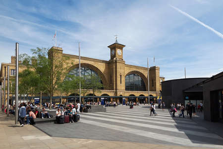 cross shape: Kings cross square and railway station located in London, England