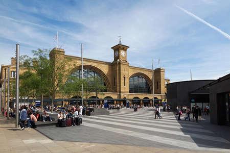 rey: Reyes Cruz estación de plaza y de ferrocarril ubicada en Londres, Inglaterra Editorial