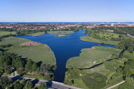 mire: Aerial view of Utterslev Mire part 3 located in Zealand, Denmark