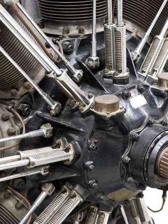 Closeup image of an old airplane star engine Reklamní fotografie