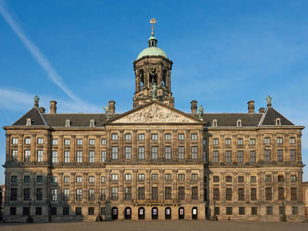 Amsterdam, Netherlands – March 10, 2016: Royal Palace of Amsterdam in the Netherlands