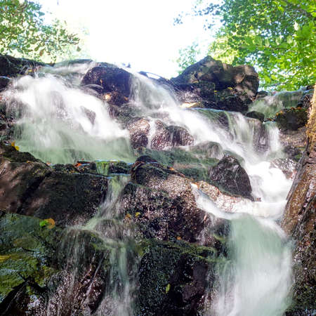 The Forsakar Waterfall located in Scania, Sweden