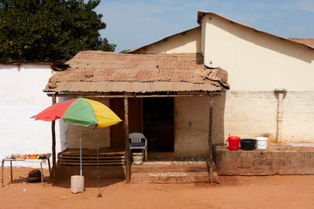 Roadside house in The Gambia, Africa Stock Photo
