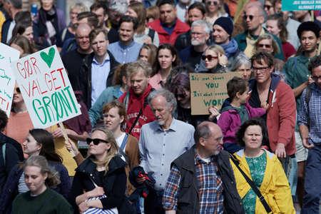 Copenhagen, Denmark maj 2019 - The People's Climate March in Copenhagen Sajtókép