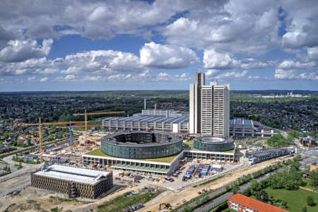 Aerial view of Herlev Hospital located on Zealand, Denmark Editorial