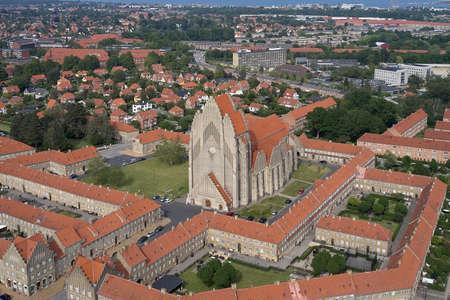 Grundtvigs Church located in the Bispebjerg district of Copenhagen in Denmark