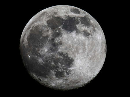 Full moon with details of craters