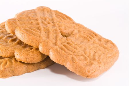 speculaas: Speculaas dutch cookie on white