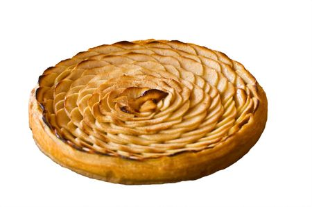 szarlotka: Świeżo pieczone francuskich jabłoni wykres kołowy Zdjęcie Seryjne