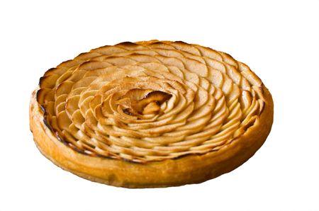 tarta de manzana: Tarta de manzana franc�s reci�n horneada  Foto de archivo