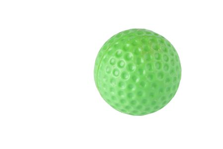 Green childrens play golf ball Stock Photo - 5836828