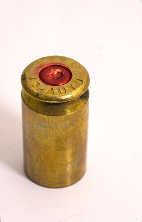 45 gun: Single .45 shell casing