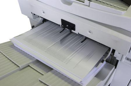 copier: Copier output met wazig kopieën Stockfoto